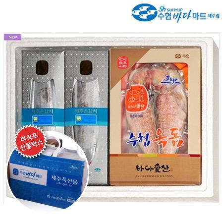 [제주도직송]수협바다마트 명품세트1호(갈치+옥돔) - 옥돔(특) 3미, 토막갈치(특대) 4곽이식사