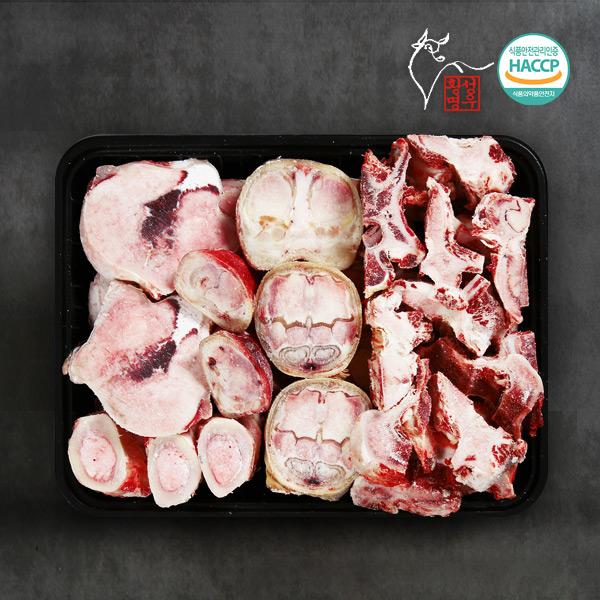횡성명품한우 보신세트 1호(우족 1kg +사골 2kg + 잡뼈 2kg)이식사